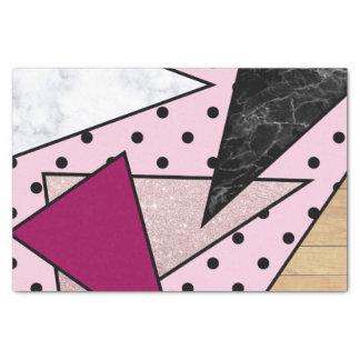 Papier Mousseline Bois rose géométrique élégant de marbre de parties