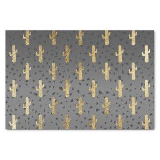 Papier Mousseline Cactus d'or sur le gradient chic moderne de