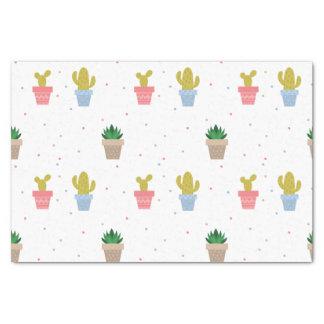 Papier Mousseline Cactus mignon