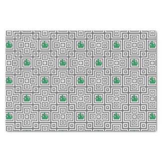 Papier Mousseline Cactus - motif géométrique abstrait - gris