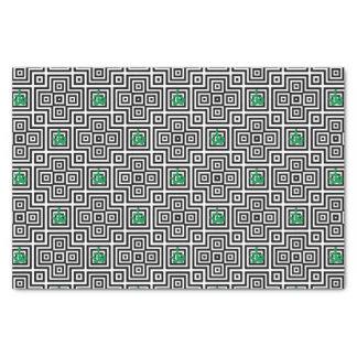 Papier Mousseline Cactus - motif géométrique abstrait - noir