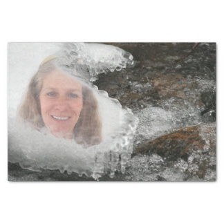 Papier Mousseline Cadre de photo de glaçons de rivière