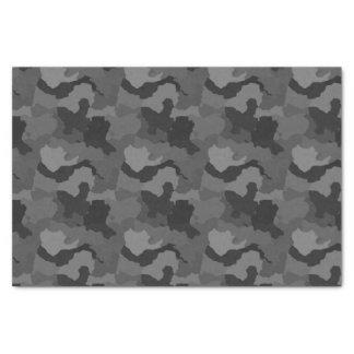 Papier Mousseline Camouflage gris/papier de soie de soie militaire