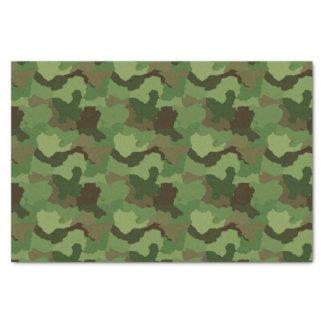 Papier Mousseline Camouflage vert/papier de soie de soie militaire