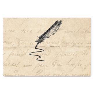 Papier Mousseline Cannette vintage de la plume de l'auteur