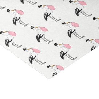Papier Mousseline C'est une cigogne de fille que le bébé indiquent