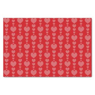 Papier Mousseline Chaîne de coeur d'enveloppe de cadeau de papier de