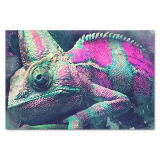Papier Mousseline #chameleon de caméléon