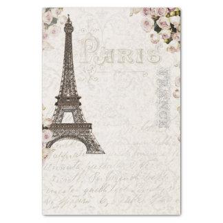 Papier Mousseline Charme chic de roses de rose de Tour Eiffel de