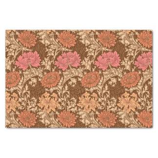 Papier Mousseline Chrysanthèmes, Brown et rouille de William Morris