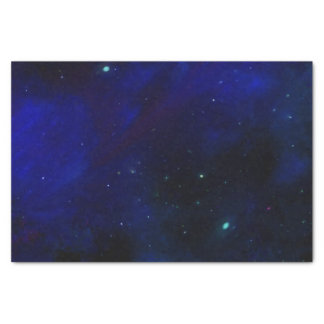 Papier Mousseline Ciel bleu de minuit avec des étoiles