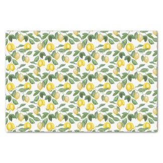 Papier Mousseline Citrons, plantes, floral. Illustration