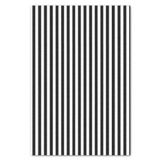 Papier Mousseline Classique rayé noir et blanc