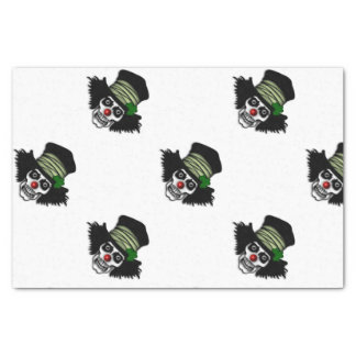 Papier Mousseline Clown squelettique irlandais
