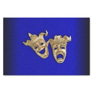 Papier Mousseline Cobalt de masques de théâtre de comédie et de
