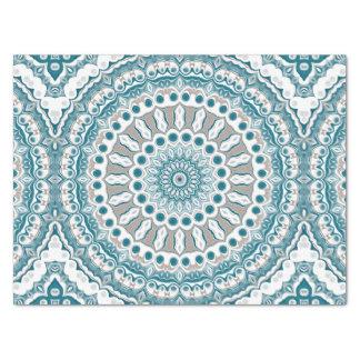 Papier Mousseline Conception nautique de bleu d'océan et blanche de