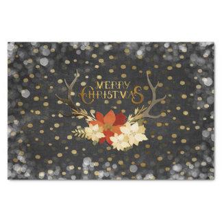 Papier Mousseline Confettis floraux d'andouillers de Joyeux Noël