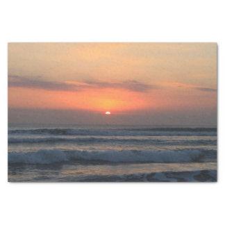 Papier Mousseline Coucher du soleil tropical