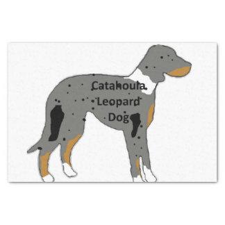 Papier Mousseline couleur de silo de nom de chien de léopard de