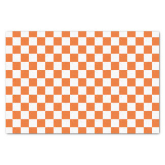 Papier Mousseline Damier orange