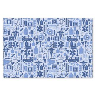 Papier Mousseline Docteur bleu mignon Medical Pattern d'infirmière