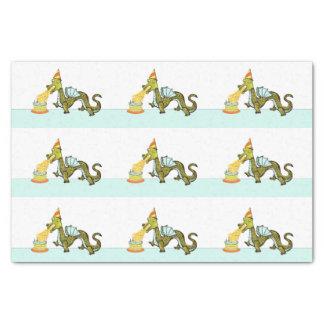 Papier Mousseline dragon drôle d'anniversaire