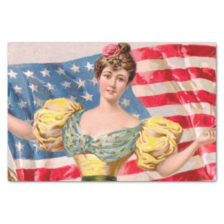 Papier Mousseline Drapeau américain de Madame Liberty