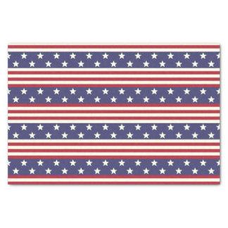 Papier Mousseline Drapeau américain patriotique Etats-Unis de