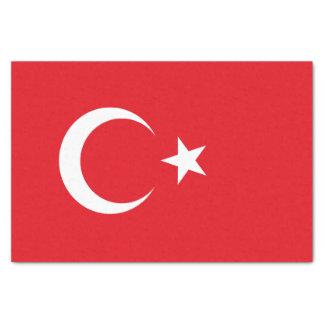 Papier Mousseline Drapeau de la Turquie