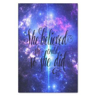Papier Mousseline Elle a cru en cieux iridescents