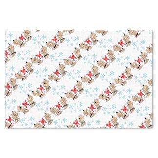 Papier Mousseline Emballage blond comme les blés de Noël de Terrier