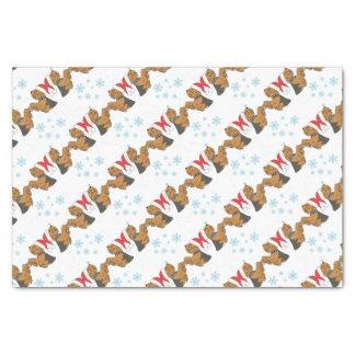 Papier Mousseline Emballage de Noël de Yorkshire Terrier