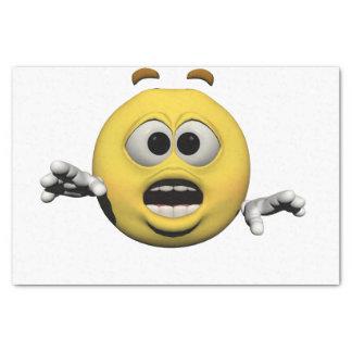 Papier Mousseline Émoticône jaune ou smiley de crainte