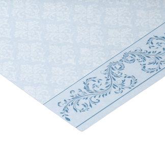 Papier Mousseline Enveloppant le tissu - damassé bleue glaciale
