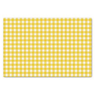 Papier Mousseline Enveloppe de cadeau jaune et blanche de tissu de