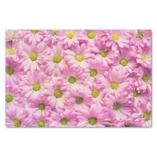 Papier Mousseline Enveloppe de tissu - marguerites roses de Gerbera
