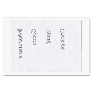 Papier Mousseline Étiquettes de pot de cuisine renversés pour des