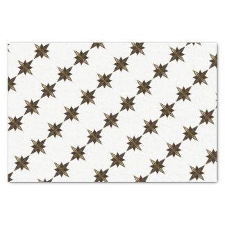 Papier Mousseline Étoile esquissée par main de Noël sur le blanc