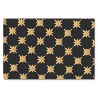 Papier Mousseline Étoile esquissée par Noël d'or sur le noir