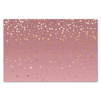 Papier Mousseline Étoiles assez de rose de rose d'or d'arrière -
