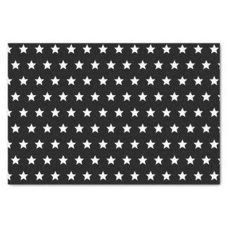 Papier Mousseline Étoiles noires et blanches