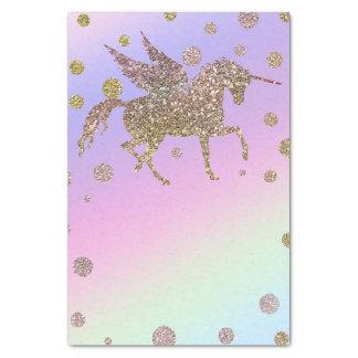 Papier Mousseline Fête d'anniversaire en pastel de licorne de