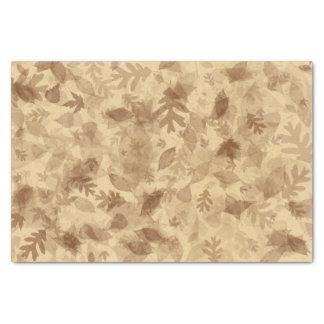 Papier Mousseline Feuille d'Automne-Chute dans la sépia Brown