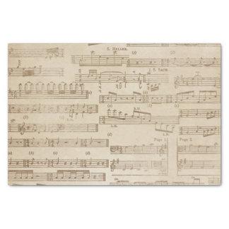 Papier Mousseline Feuille de musique vintage