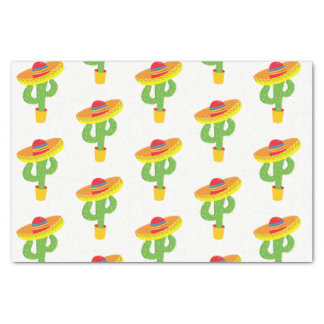 Papier Mousseline Fiesta de Mexicain de cactus de sombrero de Cinco