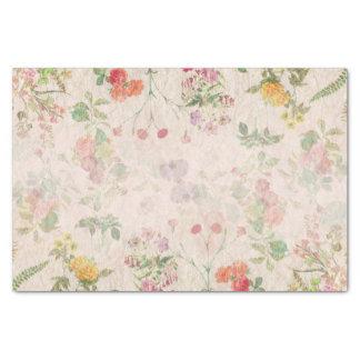Papier Mousseline Fleur sauvage de mariage rose romantique floral