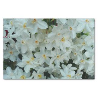 Papier Mousseline Fleurs blanches sensibles de narcisse de