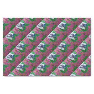 Papier Mousseline Fleurs d'oiseau de ronflement