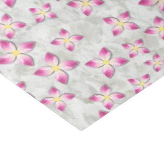 Papier Mousseline Fleurs roses et blanches au-dessus de texture