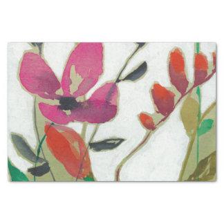 Papier Mousseline Fleurs vives I